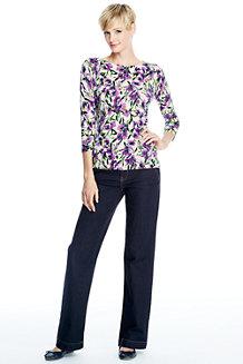 Women's Fine Gauge Supima® Floral Print Crew Neck