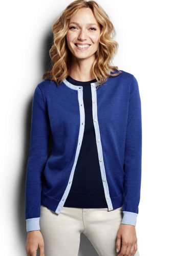 Supima Colorblock-Cardigan