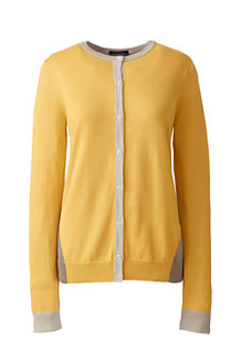 Women's Colourblock Supima® Fine Gauge Cardigan