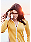 Le Cardigan Fine Maille Supima® Bloc de Couleurs Femme, Taille Standard