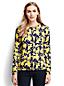 Le Cardigan en Coton Supima(r) Manches Longues à Motifs Fleuris, Femme Taille Standard