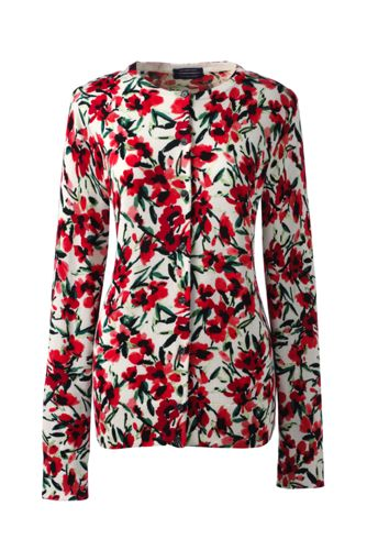 Women's Regular Fine Gauge Supima® Print Cardigan