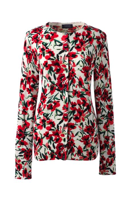 Women's Classic Supima Print Cardigan Sweater
