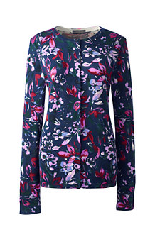Women's Fine Gauge Supima® Print Cardigan