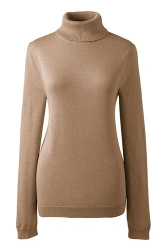 Le Pull Col Roulé Supima Femme, Taille Standard