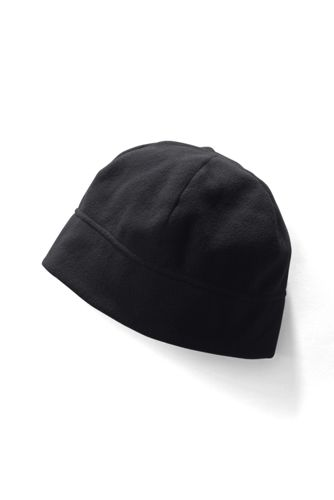 Mens Ribbed Beanie Hat - BLACK Lands End f1TdNy