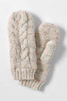 Women's Chunky Donegal Cable Mittens