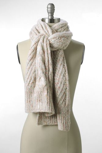 Women's Chunky Donegal Cable Scarf