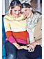 Flauschiger Grobstrick-Rundschal für Damen