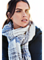 Women's Textured Plaid Scarf