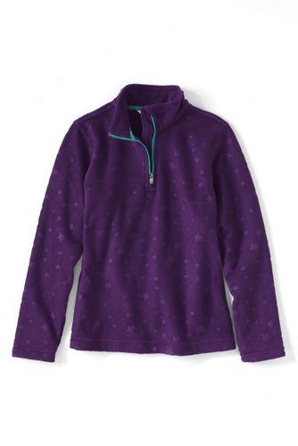 Girls' Embossed Fleece Half Zip Pullover