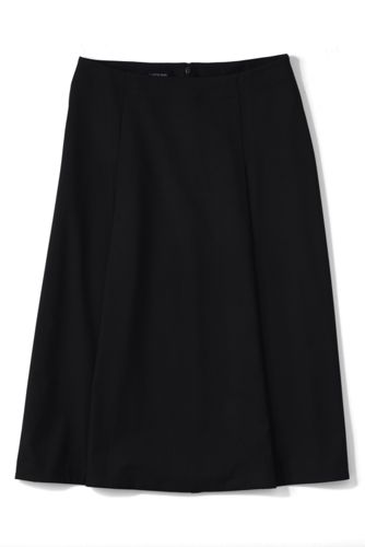 Women's Petite Woven Panelled Midi Skirt
