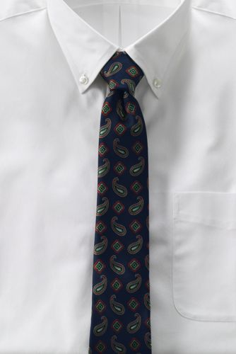 Men's Regular Falling Paisley Hand-sewn Silk Tie