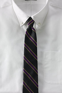 Men's Repp Stripe Hand-sewn Silk/Wool Tie