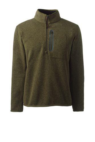Strickfleece-Troyer mit Zipper-Brusttasche für Herren