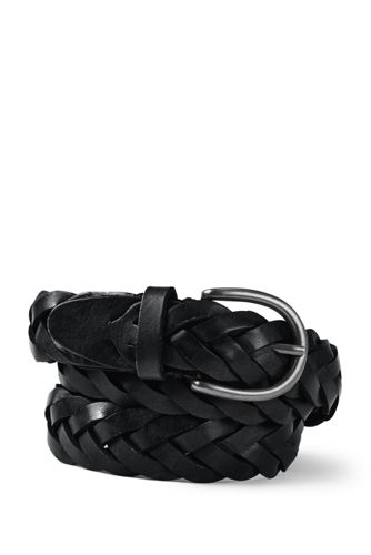 Men's Regular Plaited Leather Belt