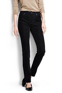 Women' Mid Rise Cord Slim Leg Trousers