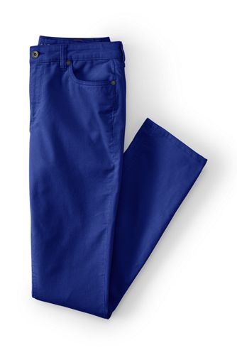 Women' Mid Rise Cord Slim Leg Trousers