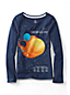 Little Girls' Long Sleeve Space Graphic Tee