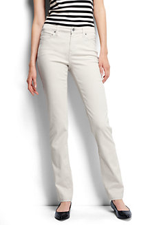 Women's Mid Rise Straight Leg Stretch Jeans