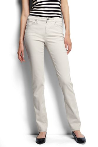 Women's Regular Mid Rise Straight Leg Stretch Jeans