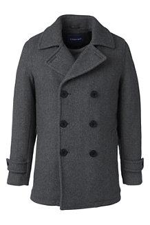 Men's Herringbone Wool Blend Pea Coat