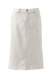 Women's 5-Pocket Flax Denim Skirt