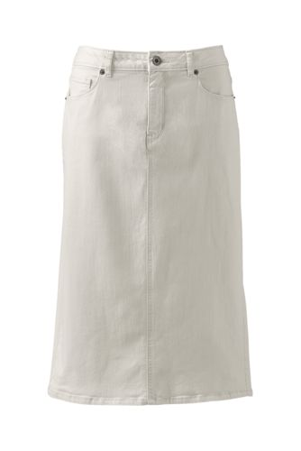 Women's Regular 5-Pocket Flax Denim Skirt