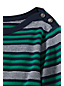 Women's Regular Three Quarter Sleeve Boatneck Stripe Tee