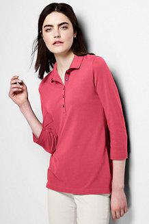 Women's Cotton Modal Piqué  Polo