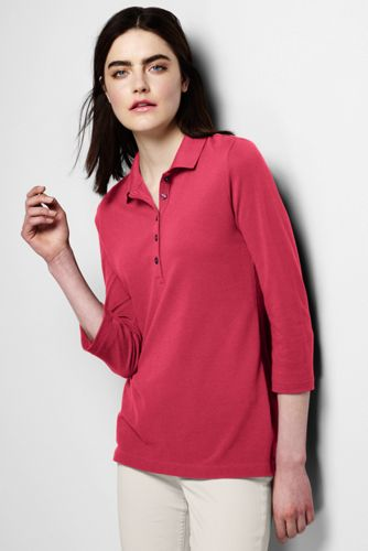 Women's Regular Plain Cotton-modal Piqué  Polo