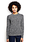 Women's Regular Marled Cable Crew Neck Jumper