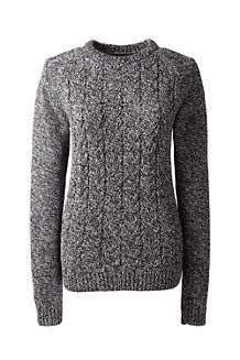 Women's Marled Cable Crew Neck Jumper