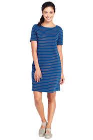 Women's Short Sleeve Knit Stripe Shift Dress