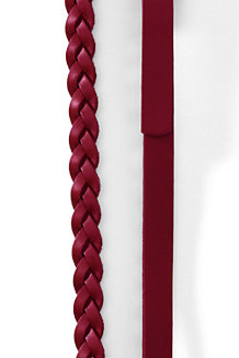 Braid And Ring Leather Belt