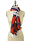 Oversized Abstract Colourblock Scarf