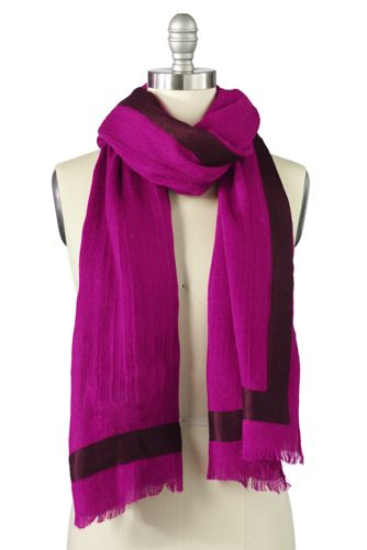 Maxi-Schal mit gewebter Crinkle-Bordüre