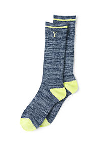 Womens Thermaskin Heat Marled Boot Socks - LXL - BLUE Lands End