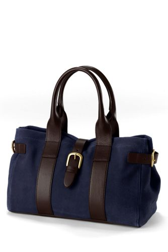 Women's Buckled Suede Handbag