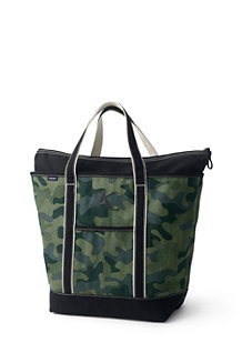 Large Print Zip Top Tote