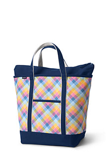 Große Tasche mit Top-Zipper für Damen, gemustert