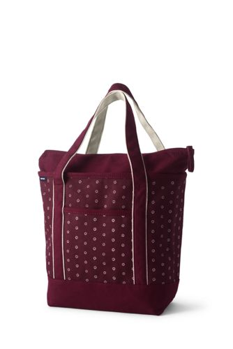 Medium Zip Top Printed Tote
