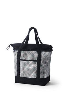 Mittelgroße Tasche mit Top-Zipper für Damen, gemustert