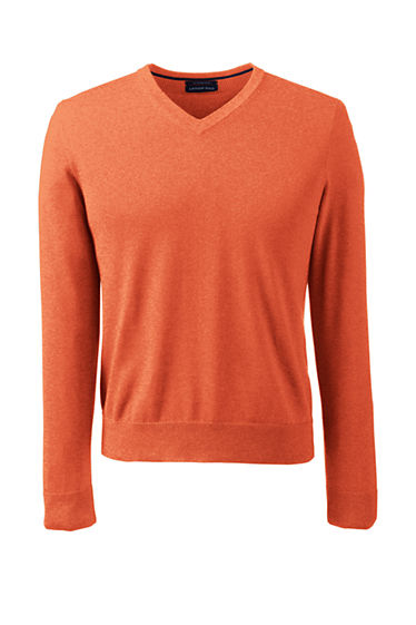 Men's Tall Supima Cotton V-neck Sweater from Lands' End