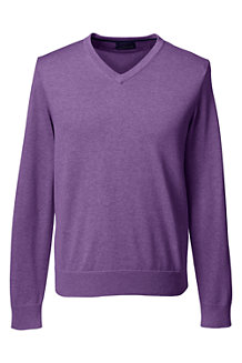Men's Fine Gauge V-neck Sweater