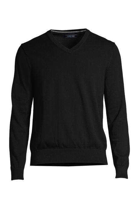 23aa43ab2e1 Men s Classic Fit Fine Gauge Supima Cotton V-neck Sweater
