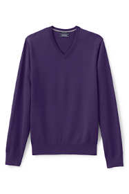 Men's Classic Fit Fine Gauge Supima Cotton V-neck Sweater