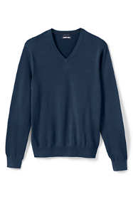 Men's Big & Tall Classic Fit Fine Gauge Supima Cotton V-neck Sweater