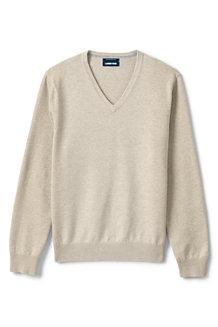 Supima V-Pullover, Classic Fit