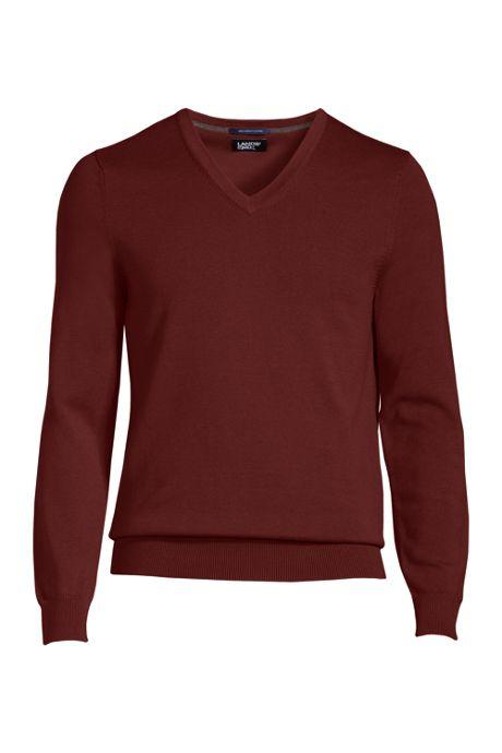 Men's Classic Fit Fine Gauge Supima Cotton V-neck Sweater